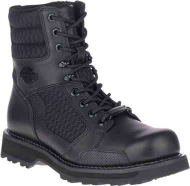 Harley-Davidson Men's Lensfield 6.5-Inch Black Leather Motorcycle Boots, D96204 - Wisconsin Harley-Davidson