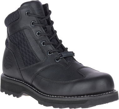 Harley-Davidson Men's Reland 5-Inch Black Leather Motorcycle Boots, D96229 - Wisconsin Harley-Davidson