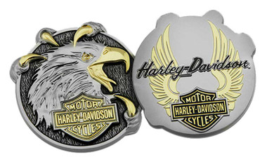 Harley-Davidson Eagle Claw B&S Challenge Coin, 1.75 in. Silver & Gold 8008963 - Wisconsin Harley-Davidson