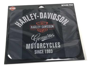 Harley-Davidson Premium B&S Neoprene Office Mouse Pad - Black & Gray MO34363 - Wisconsin Harley-Davidson