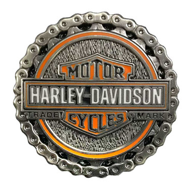 Harley-Davidson 1.25 in. Biker Chain Trademark Chain Pin, Antique Finish 8009274 - Wisconsin Harley-Davidson