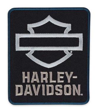 Harley-Davidson Insignia Embroidered B&S Emblem Patch, 2.75 x 3.25 inch EM344301 - Wisconsin Harley-Davidson