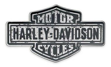 Harley-Davidson Premium B&S Logo Cloisonne Pin - Antique Nickel Effect P343758 - Wisconsin Harley-Davidson