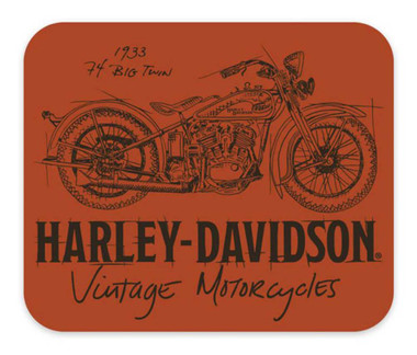 Harley-Davidson Timeline Motorcycle Neoprene Office Mouse Pad - Orange MO34538 - Wisconsin Harley-Davidson