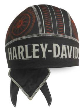 Harley-Davidson Men's Timeline H-D Polyester Headwrap - Warm Black HW34530 - Wisconsin Harley-Davidson