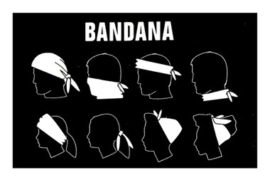 Harley-Davidson Men's Premium Distressed H-D Bandana - Black, 24 x 24 in BA34330 - Wisconsin Harley-Davidson