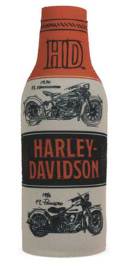Harley-Davidson Timeline Motorcycle H-D Neoprene Zippered Bottle Wrap BZ34566 - Wisconsin Harley-Davidson
