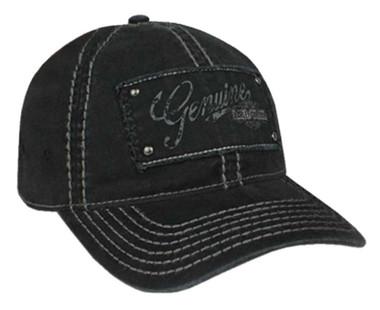 Harley-Davidson Women's Premium Studded Baseball Cap - Black Washed BC34330 - Wisconsin Harley-Davidson