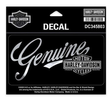 Harley-Davidson Premium Genuine B&S Decal, MD Size - 5.75 x 3 inches DC345803 - Wisconsin Harley-Davidson