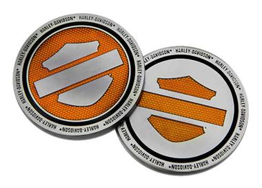 Harley-Davidson Orange Bar & Shield Logo Challenge Coin, 1.75 inch. 8008994 - Wisconsin Harley-Davidson