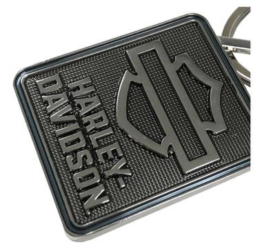 Harley-Davidson 2D Die Struck Bar & Shield Keychain - Polished Silver KY34406 - Wisconsin Harley-Davidson