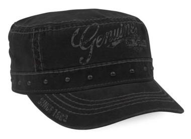 Harley-Davidson Women's Premium Studded Adjustable Painters Cap, Black PC34330 - Wisconsin Harley-Davidson