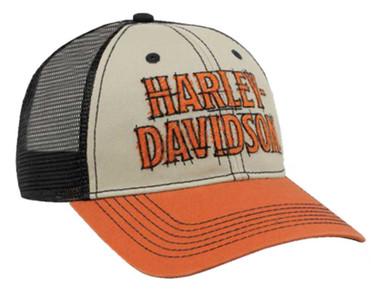 Harley-Davidson Men's Timeline Embroidered H-D Snapback Trucker Baseball Cap - Wisconsin Harley-Davidson