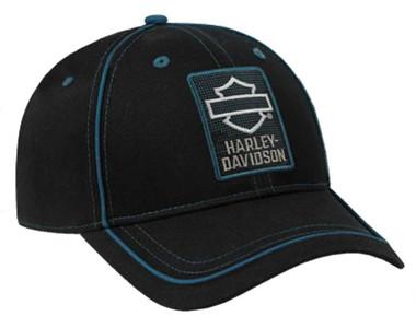 Harley-Davidson Men's Insignia Embroidered B&S Logo Snapback Baseball Cap, Black - Wisconsin Harley-Davidson