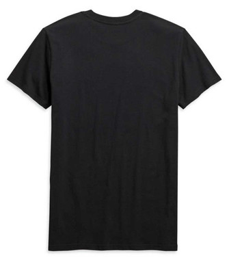 Harley-Davidson Men's Chest Stripe Slim Fit Short Sleeve Tee, Black 99091-20VH - Wisconsin Harley-Davidson
