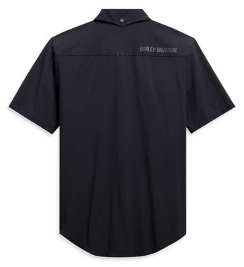 Harley-Davidson Men's Four-Way Stretch Slim Fit Short Sleeve Shirt 99092-20VH - Wisconsin Harley-Davidson