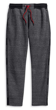 Harley-Davidson Mens Side Tape Activewear Pants, Asphalt Heather Gray 96226-20VM - Wisconsin Harley-Davidson