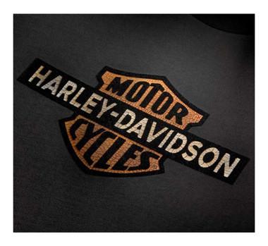 Harley-Davidson Men's Cracked Print Logo Short Sleeve Tee - Gray 99101-20VM - Wisconsin Harley-Davidson