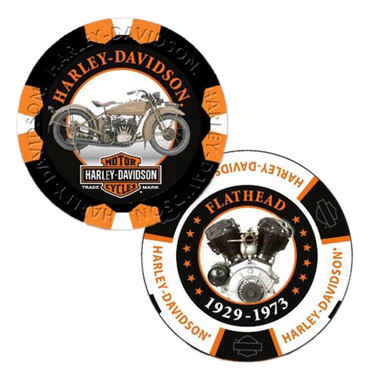 Harley-Davidson Limited Edition Series #3 Poker Chips - 2 Chips Included 6703D - Wisconsin Harley-Davidson
