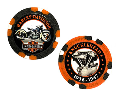 Harley-Davidson Limited Edition Series #4 Poker Chips - 2 Chips Included 6704D - Wisconsin Harley-Davidson