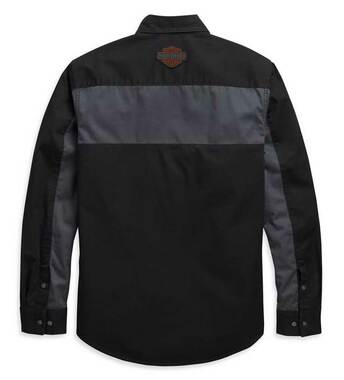 Harley-Davidson Men's Copperblock Long Sleeve Woven Shirt, Black 99081-20VM - Wisconsin Harley-Davidson