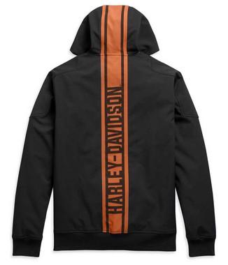 Harley-Davidson Men's Vertical Stripe Hooded Stretch Casual Jacket 98408-20VM - Wisconsin Harley-Davidson