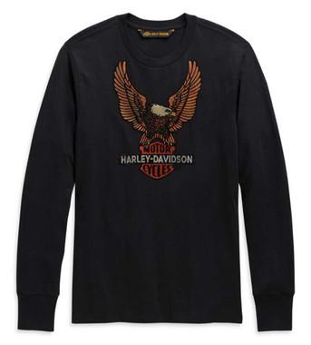 Harley-Davidson Men's Vintage Eagle Long Sleeve Cotton Shirt - Black 99098-20VM - Wisconsin Harley-Davidson