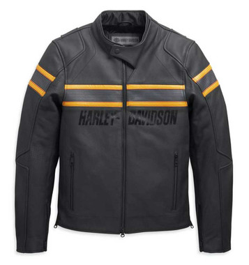 Harley-Davidson Men's Sidari Venting Slim Fit Leather Jacket, Black 98007-20VM - Wisconsin Harley-Davidson