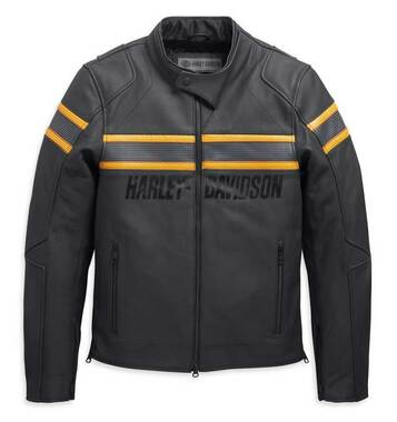Harley-Davidson Men's Sidari Venting Slim Fit Leather Jacket, Black 98007-20VM - Wisconsin Harley-Davidson