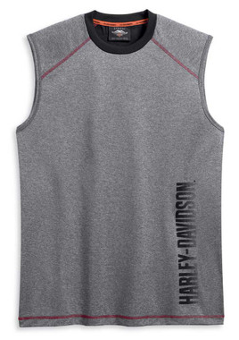 Harley-Davidson Men's Performance Wicking Colorblock Sleeveless Shirt 96225-20VM - Wisconsin Harley-Davidson
