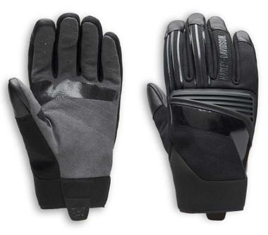 Harley-Davidson Men's Sidari Mixed Media Full-Finger Gloves, Black 98152-20VM - Wisconsin Harley-Davidson