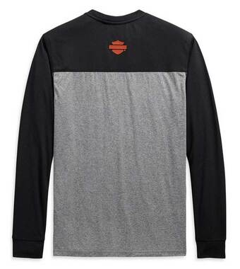 Harley-Davidson Men's Performance Micro Mesh Colorblock Shirt, Gray 99086-20VM - Wisconsin Harley-Davidson