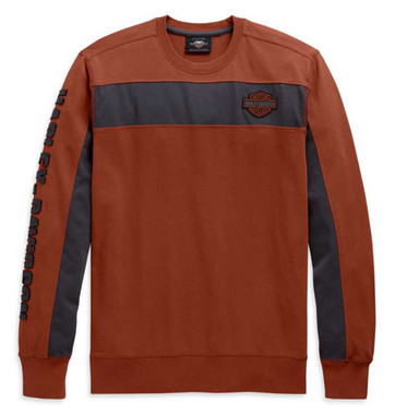 Harley-Davidson Men's Copperblock Stripe Long Sleeve Shirt - Orange 99083-20VM - Wisconsin Harley-Davidson