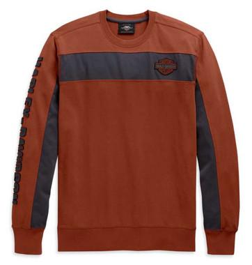 Harley-Davidson Men's Copperblock Stripe Long Sleeve Shirt - Orange 99083-20VM - Wisconsin Harley-Davidson