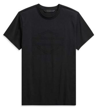 Harley-Davidson Men's Embossed Logo Slim Fit Short Sleeve T-Shirt 99095-20VH - Wisconsin Harley-Davidson