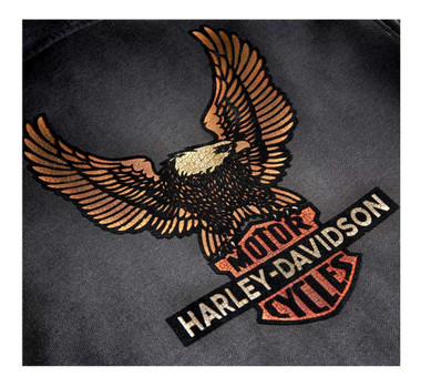 Harley-Davidson Men's Vintage Eagle B&S Zip-Up Hoodie - Gray 99099-20VM - Wisconsin Harley-Davidson