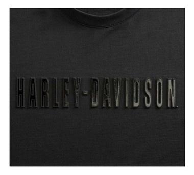 Harley-Davidson Men's Embossed Metallic Slim Fit Short Sleeve T-Shirt 99096-20VH - Wisconsin Harley-Davidson