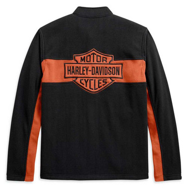 Harley-Davidson Men's Chest Stripe Activewear Zip-Up Jacket, Black 99087-20VM - Wisconsin Harley-Davidson