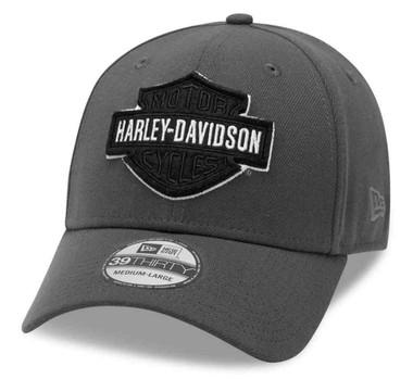 Harley-Davidson Men's Tonal B&S Logo 39THIRTY Baseball Cap, Gray 99422-20VM - Wisconsin Harley-Davidson