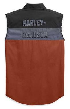 Harley-Davidson Men's Copperblock B&S Sleeveless Blowout Shirt 99079-20VM - Wisconsin Harley-Davidson