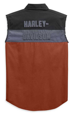 Harley-Davidson Men's Copperblock B&S Sleeveless Blowout Shirt 99079-20VM - Wisconsin Harley-Davidson