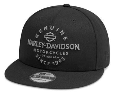 Harley-Davidson Men's Genuine 9FIFTY Adjustable Baseball Cap, Black 99411-20VM - Wisconsin Harley-Davidson