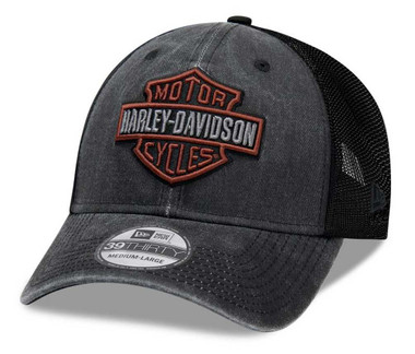 Harley-Davidson Men's Washed Colorblocked 39THIRTY Baseball Cap 99407-20VM - Wisconsin Harley-Davidson