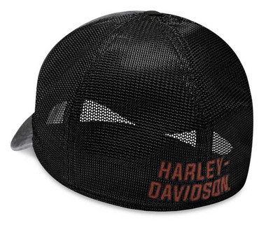 Harley-Davidson Men's Washed Colorblocked 39THIRTY Baseball Cap 99407-20VM - Wisconsin Harley-Davidson
