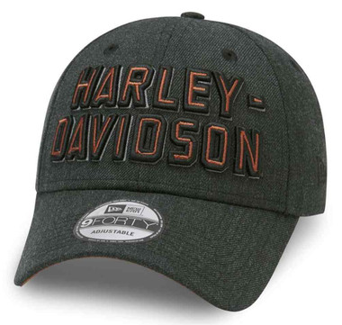 Harley-Davidson Men's Embroidered Graphic 9FORTY Baseball Cap, Black 99419-20VM - Wisconsin Harley-Davidson