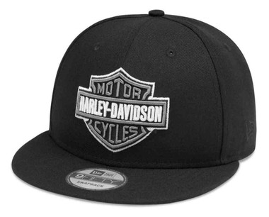 Harley-Davidson Mens Tonal Logo 9FIFTY Adjustable Baseball Cap, Black 99408-20VM - Wisconsin Harley-Davidson