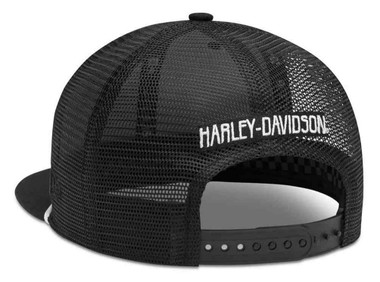 Harley-Davidson Men's Rope Accent 9FIFTY Trucker Baseball Cap, Black 99412-20VM - Wisconsin Harley-Davidson
