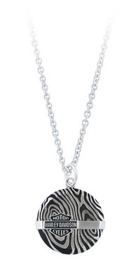 Harley-Davidson Men's Driftwood Round Bar Necklace - Stainless Steel HSN0066 - Wisconsin Harley-Davidson