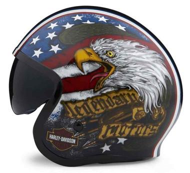 Harley-Davidson Unisex Gavin Sun Shield M06 3/4 Helmet - Black 98173-20VX - Wisconsin Harley-Davidson
