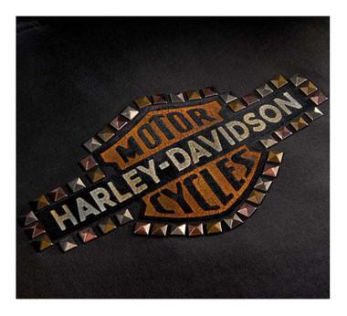 Harley-Davidson Women's Studded Vintage Logo Zip-Up Hoodie, Black 99129-20VW - Wisconsin Harley-Davidson